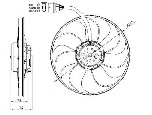Вентилятор охлаждения NRF 47393