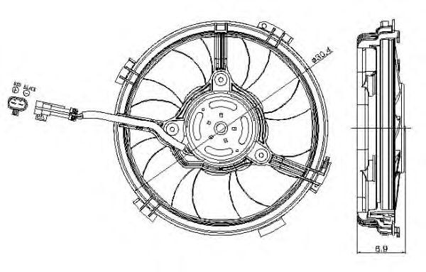 Вентилятор охлаждения NRF 47405