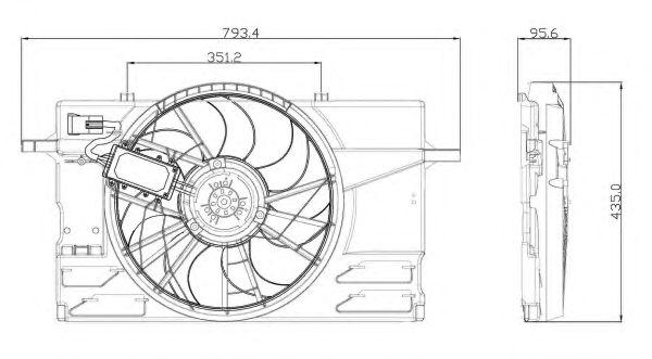 Вентилятор охлаждения NRF 47412