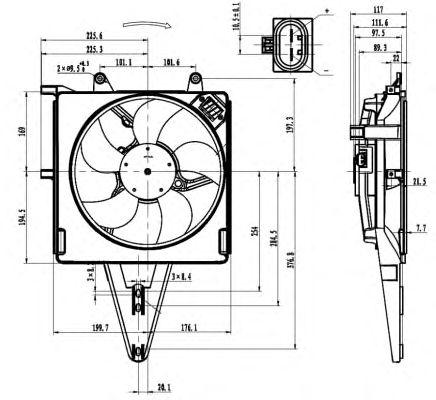 Вентилятор охлаждения NRF 47431
