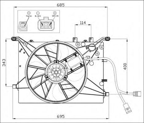 Вентилятор охлаждения NRF 47460
