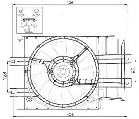 Вентилятор охлаждения NRF 47472