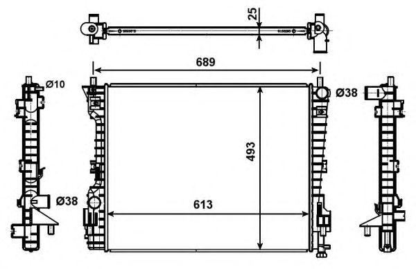 Радиатор, охлаждение двигателя NRF 53020