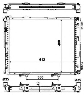 Радиатор, охлаждение двигателя NRF 53786