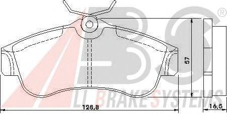 Тормозные колодки A.B.S. 36740