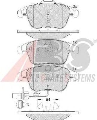Тормозные колодки A.B.S. 37612