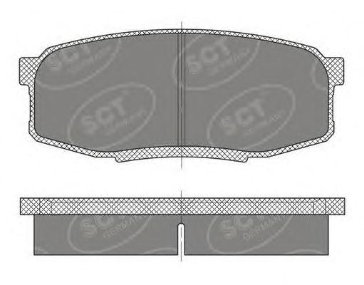 Тормозные колодки SCT Germany SP 480