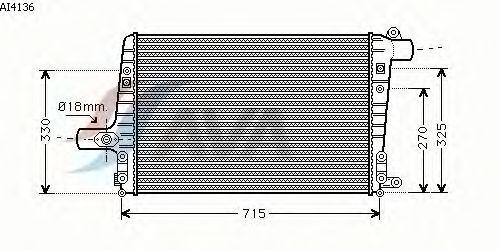 Интеркулер AVA QUALITY COOLING AI4136