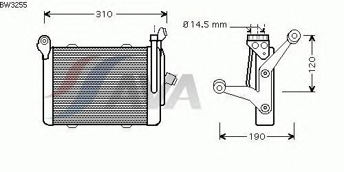 Масляный радиатор AVA QUALITY COOLING BW3255