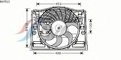 Вентилятор кондиционера AVA QUALITY COOLING BW7513