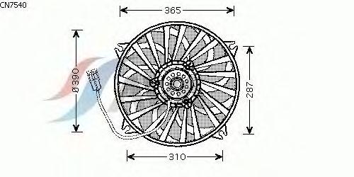 Вентилятор охлаждения AVA QUALITY COOLING CN7540