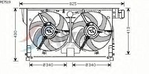 Вентилятор охлаждения AVA QUALITY COOLING PE7519