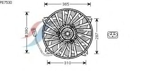 Вентилятор охлаждения AVA QUALITY COOLING PE7530