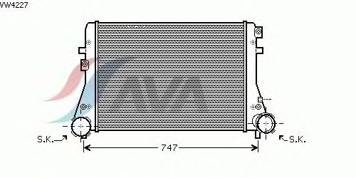 Интеркулер AVA QUALITY COOLING VW4227