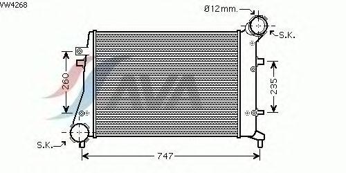 Интеркулер AVA QUALITY COOLING VW4268