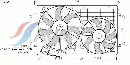 Вентилятор охлаждения AVA QUALITY COOLING VW7528
