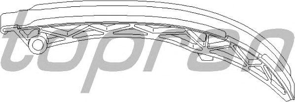 Планка успокоителя цепи TOPRAN 407 906