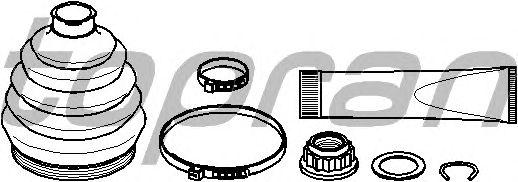 Комплект пыльника ШРУСа TOPRAN 108 209