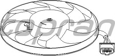 Вентилятор охлаждения TOPRAN 111 442