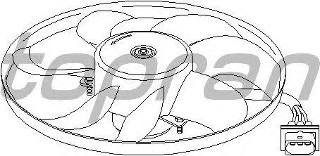 Вентилятор охлаждения TOPRAN 109 827