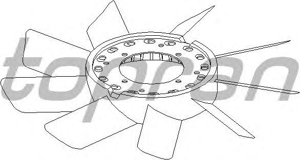 Крыльчатка вентилятора охлаждения TOPRAN 500 899