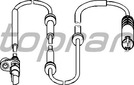 Датчик вращения колеса TOPRAN 500 985