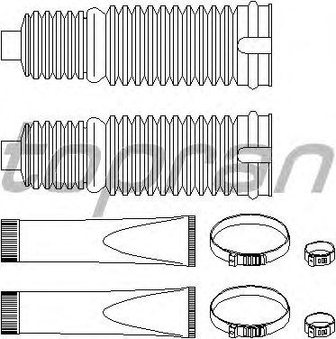 Комплект пыльников рулевой рейки TOPRAN 301 232