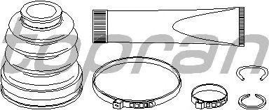 Комплект пыльника ШРУСа TOPRAN 301 941