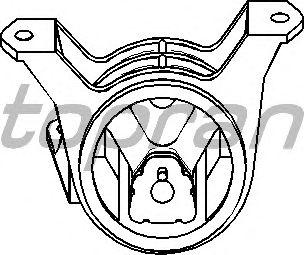 Подушка двигателя TOPRAN 206 163
