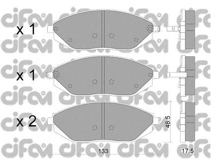Тормозные колодки CIFAM 822-908-0