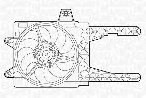 Вентилятор охлаждения MAGNETI MARELLI 069402312010