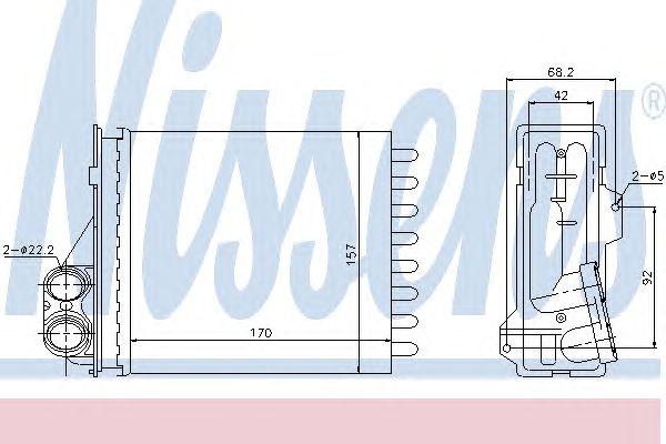 Радиатор отопителя NISSENS 76512