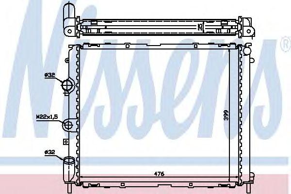 Радиатор, охлаждение двигателя NISSENS 63855A