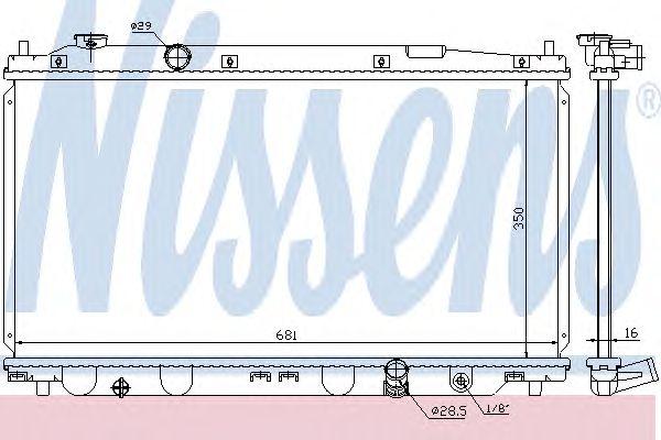 Радиатор, охлаждение двигателя NISSENS 68150