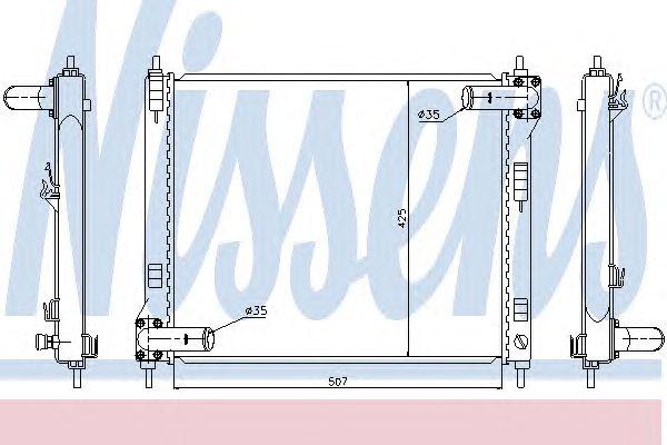 Радиатор, охлаждение двигателя NISSENS 67370