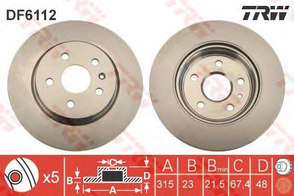 Тормозной диск TRW DF6112