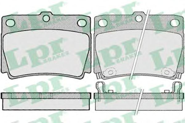 Тормозные колодки LPR 05P1029