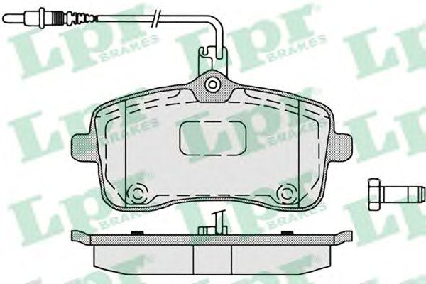 Тормозные колодки LPR 05P1196