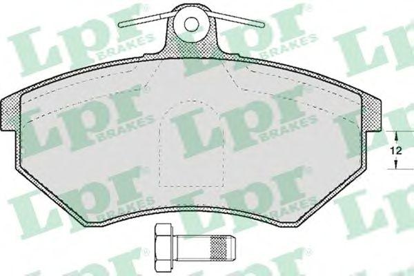 Тормозные колодки LPR 05P613