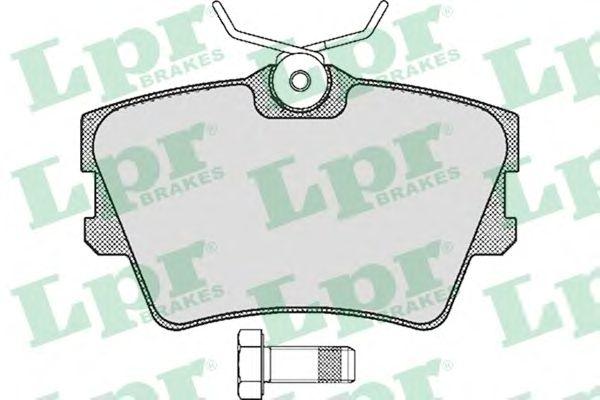 Тормозные колодки LPR 05P616