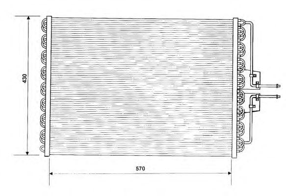 Радиатор кондиционера NRF 35162