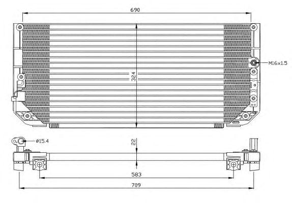 Радиатор кондиционера NRF 35282