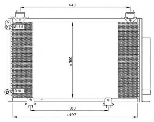 Радиатор кондиционера NRF 35333