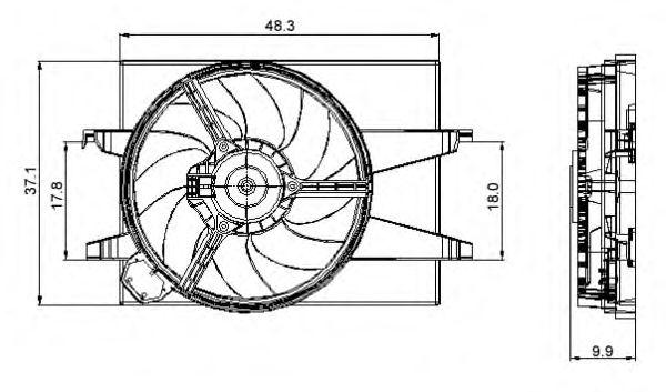 Вентилятор охлаждения NRF 47006