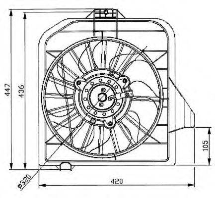 Вентилятор охлаждения NRF 47032