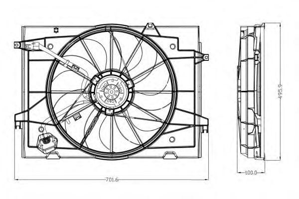 Вентилятор охлаждения NRF 47285