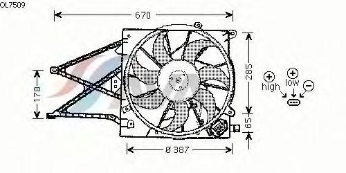Вентилятор охлаждения AVA QUALITY COOLING OL7509