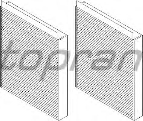 Фильтр салона TOPRAN 501 648