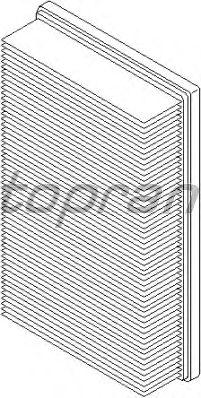 Воздушный фильтр TOPRAN 400 308