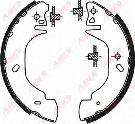 Тормозные колодки ABE C0G023ABE